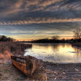 by Dave Knapp - Landscapes Sunsets & Sunrises ( clouds, sunset )
