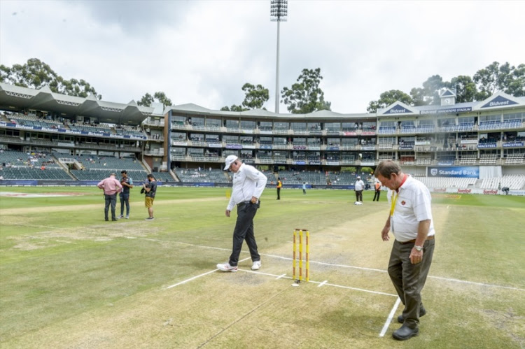 The pitch at the Bidvest Wanderers misbehaved a great deal during day 4 of the 3rd Sunfoil Test match between South Africa and India on January 27, 2018 in Johannesburg.