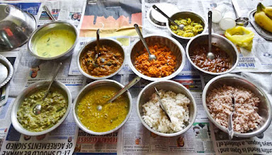 Photo: Typical Midday Meal At The Guru Bawa Ashram Jaffna
