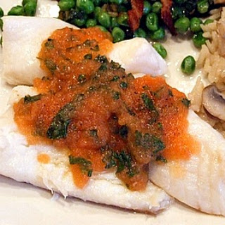Poached Orange Roughy w/ Tomato & Fresh Herb Sauce