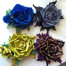 Photo: Цветы из ткани на платье - купить