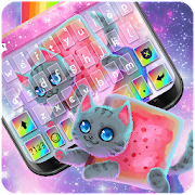 Twinkle Rainbow Cat Keyboard Theme