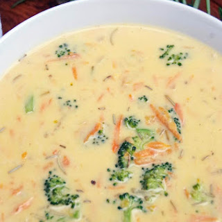 Fresh Broccoli Cheese Soup.