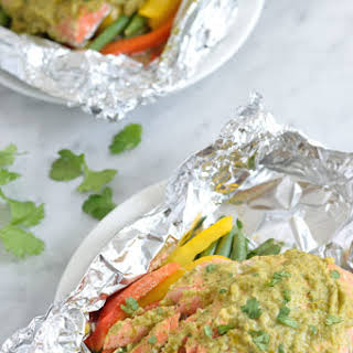 Mexican Baked Salmon in Foil.