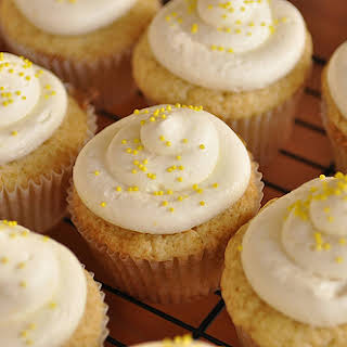 Lemon Curd Cupcakes with Lemon Cream Cheese Frosting.