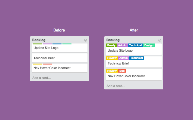 Show The Card Label Titles On Trello For Easier Communication In A Team