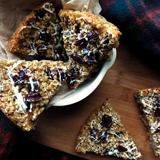 Winter Spiced Apple & Cranberry Flapjacks
