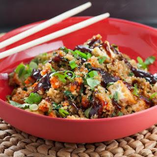 "Quinoa ""Fried Rice"" with Tofu & Choy Sum"