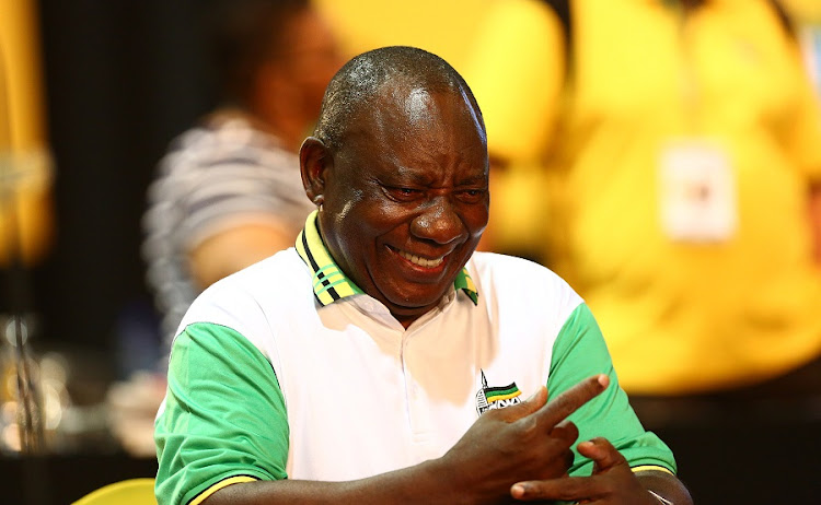 Cyril Ramaphosa smiles at the 54th ANC national elective conference in Johannesburg this week. Picture: MASI LOSI