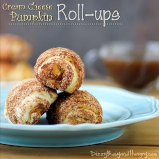 Cream Cheese Pumpkin Rollups.