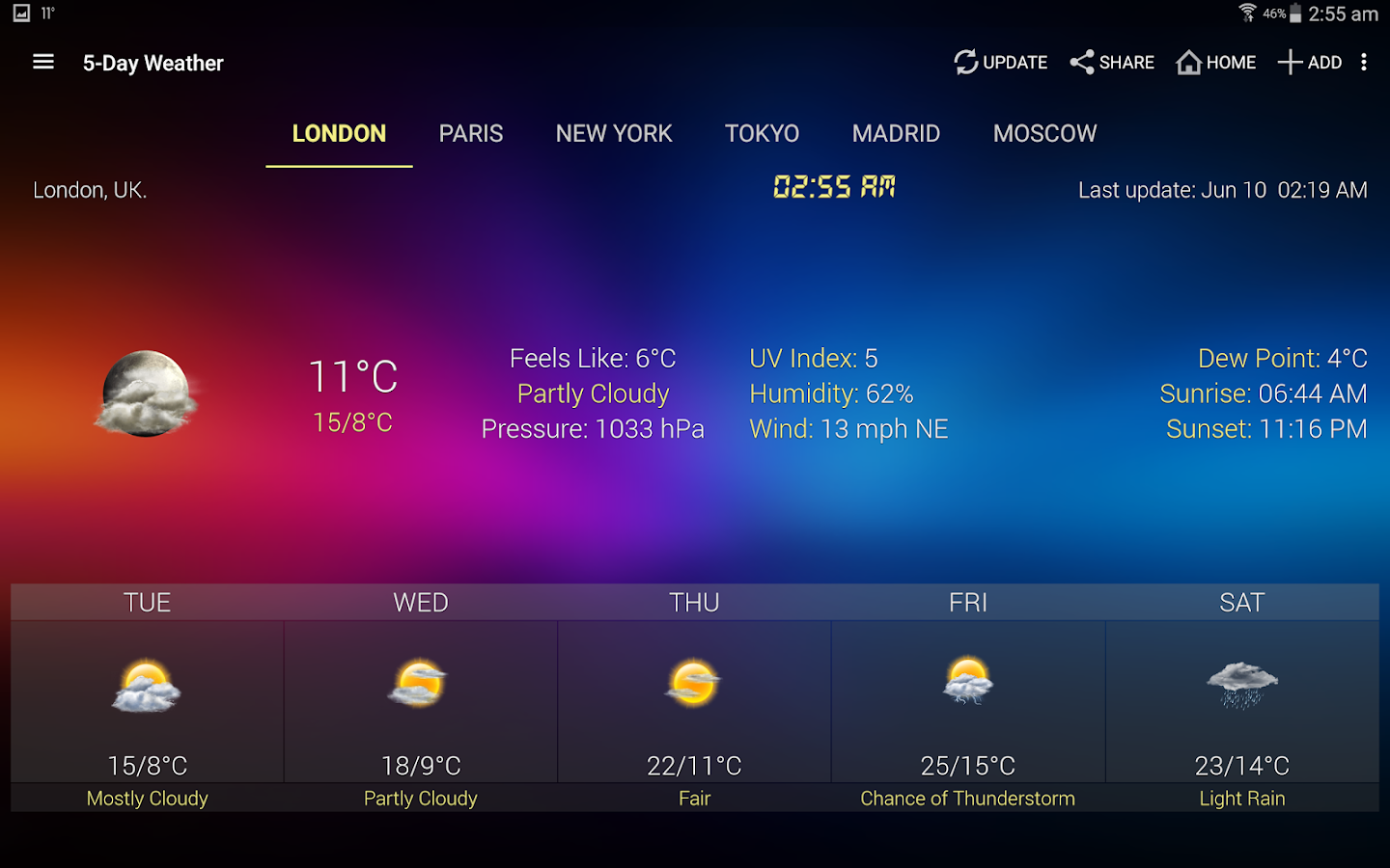 Weather & Clock Widget for Android- screenshot