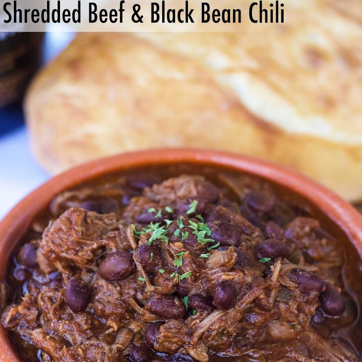 Shredded Beef and Black Bean Chili Recipe | Yummly