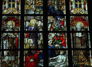 Photo: La résurrection de Lazare. Saint Léon pape. Saint Benoît de Nurcie (chapelle Sainte-Marie-Madeleine)