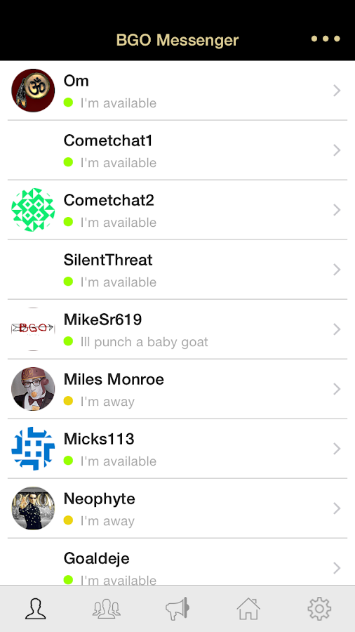BGO Messenger- screenshot