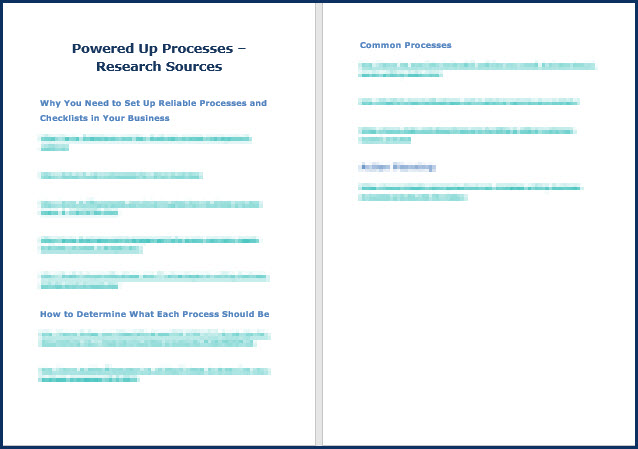 Powered Up Processes Research Sources