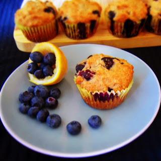 Lemon Blueberry Healthy Muffins.