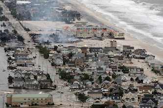 Photo: This photo made available by the New Jersey Governor's Office shows damage north of Seaside, N.J. on Tuesday, Oct. 30, 2012 after superstorm Sandy made landfall in New Jersey Monday evening. (AP Photo/New Jersey Governor's Office, Tim Larsen)