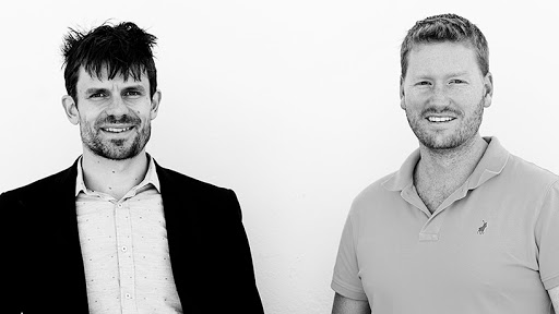 Jonathan Elcock and Matt Kloos, co-founders of CompariSure.