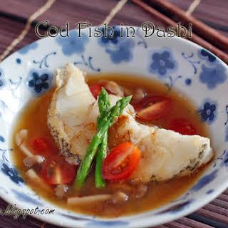 Cod Fish in Dashi.