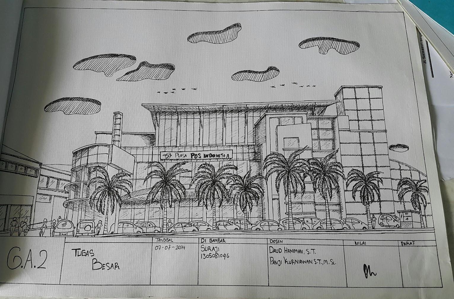 Sketsa Dengan Teknik Rapido