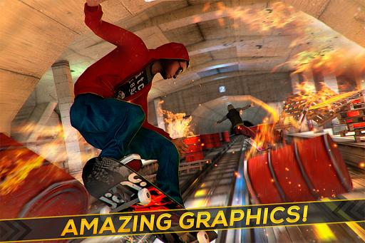 Skateboard Fire Run! 1.3.0 screenshots 2