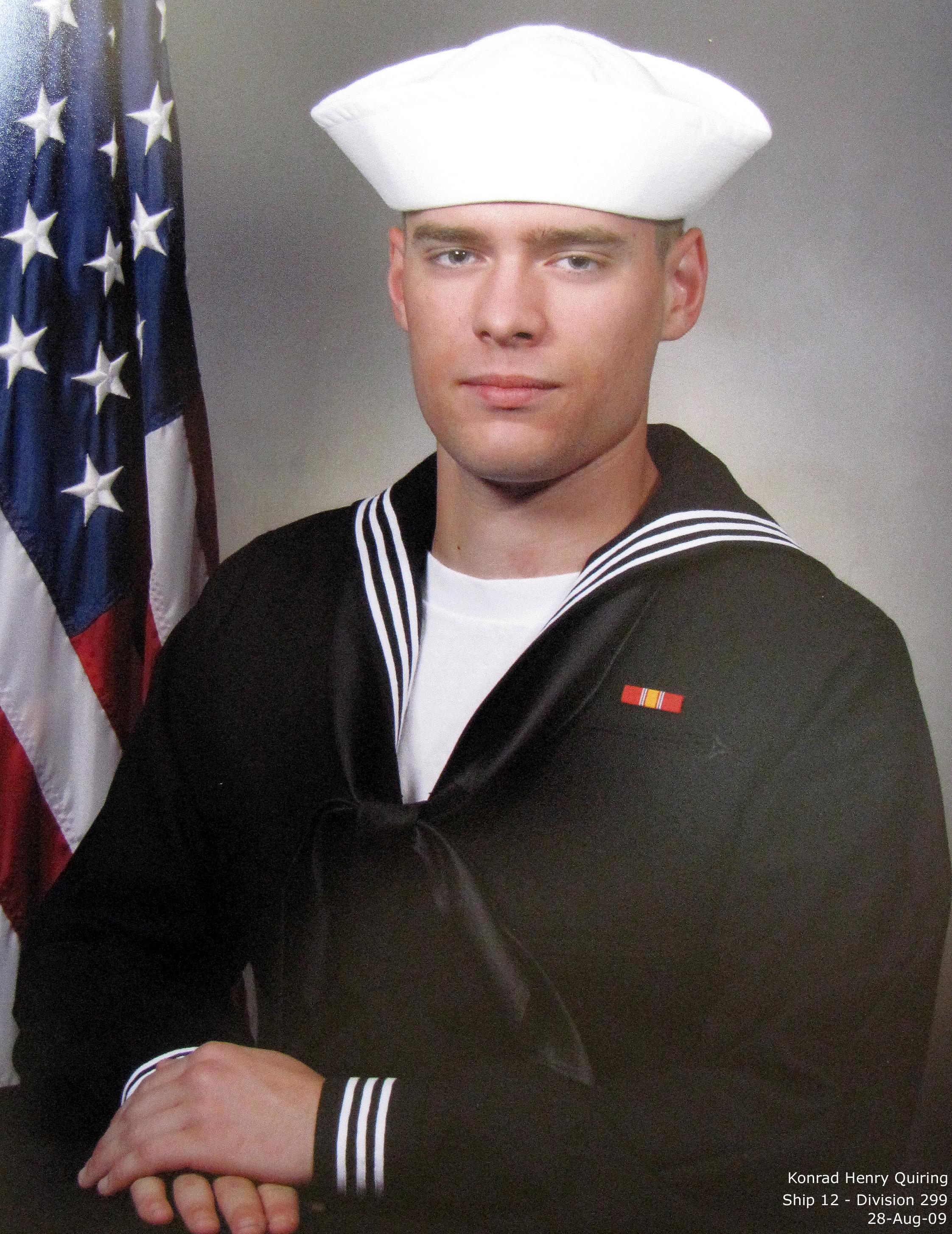 Photo: Official Boot Camp graduation photo. National Defense Service Medal. Sharpshooter designation not shown.