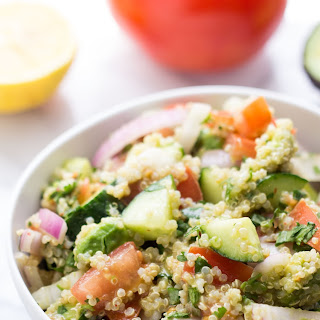 Cucumber, Tomato + Avocado Quinoa Salad