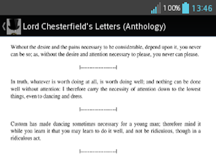 Lord Chesterfield Anthology