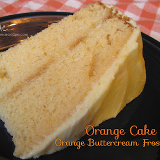 Orange Cake with Orange Buttercream Frosting