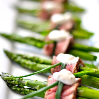 Filet Mignon Wrapped Asparagus.