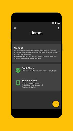Impactor Universal Unroot 5.9.7 screenshots 3