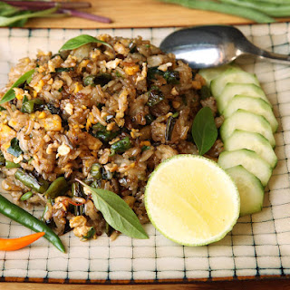Fried Rice With Blistered Green Beans and Basil.