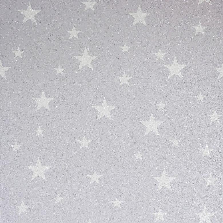 Arthouse Diamond Stars Glitter tapet Silver Grey 905003