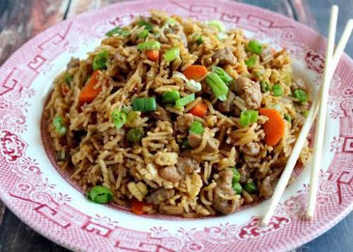 """Click Here for Recipe: Slammin Pork Fried Rice """"This really is a..."""