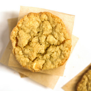 Salted White Chocolate Chip Oatmeal Cookies.