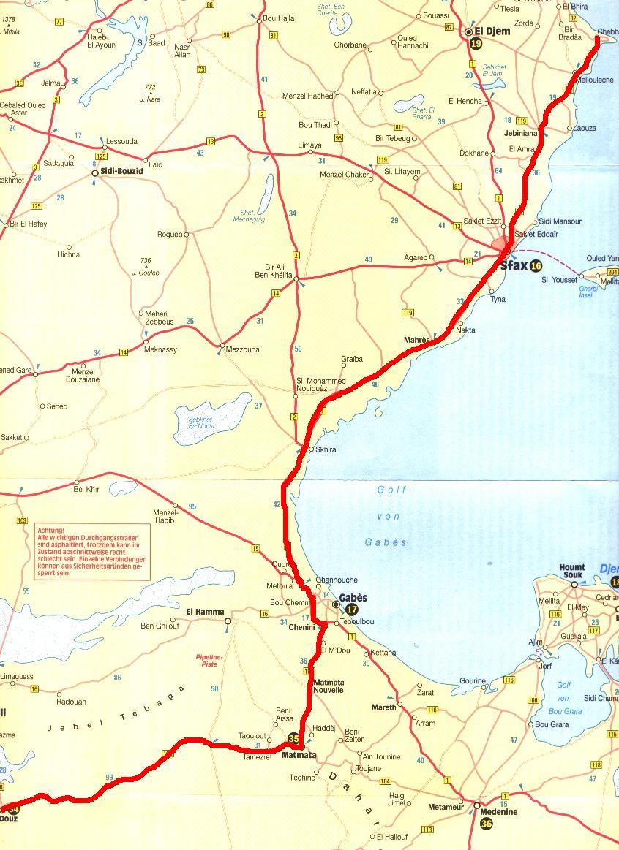 Photo: Tour vom 02.05.08 von Chebba über Sfax, Chenini, Matmata nach Douz
