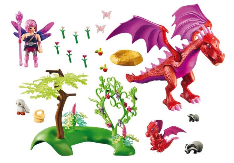 Contenido real de Playmobil® 9134 Dragón con Bebé