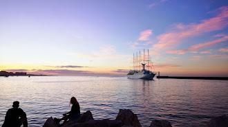 Imagen de archivo de un crucero en el Puerto de Almería.