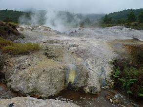 Photo: Dieng plateau - Teluga Warna and Mirror lake, vegetable terraces next to lakes, Kawah Sikidang volcano crater with sulfur bubbling lakes, Anjuna temples