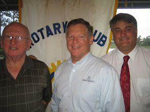 Photo: John Brim, Greg Lefils, and President Eric Sanders - June 26, 2012