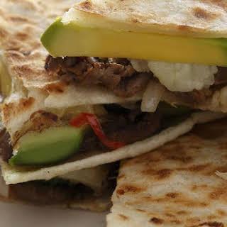 Cheesesteak Quesadillas With Hass Avocado.