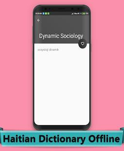 Haitian Dictionary Offline - náhled