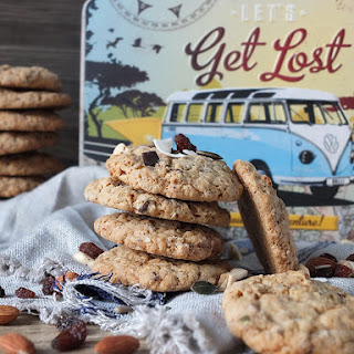 Chewy Trail Mix Oatmeal Cookies.