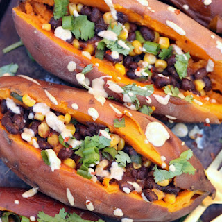 "Slow Cooker Loaded ""Baked"" Sweet Potatoes Recipe"
