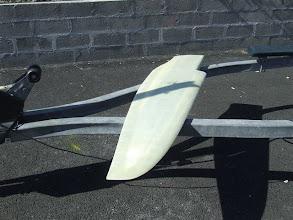 Photo: le safran tribord avant peinture... début août 2009