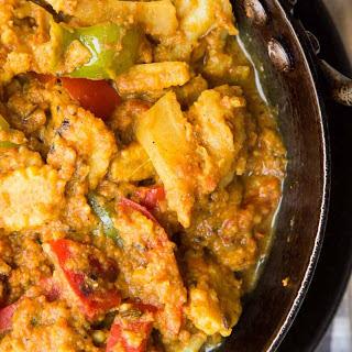 Baby Corn Tikka Masala Recipe with Mushroom, Cauliflower & Peppers.