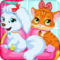 A Day With My Pet - Dogs & Cats Games icon