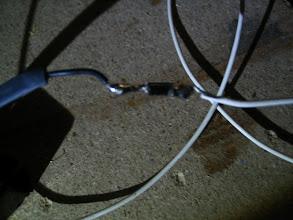 Photo: Diodo puesto para evitar retorno de corriente, Quedará protegido con termoretráctil.