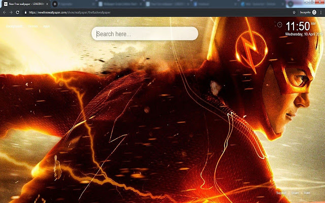The Flash HD Wallpapers New Tab themes