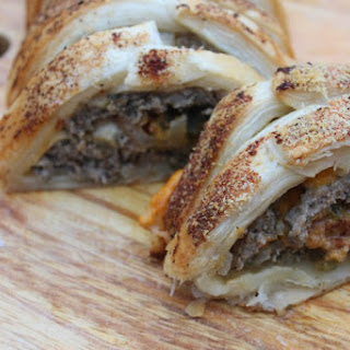 Stuffed Sausage Roll with Cheese & Jalapeno